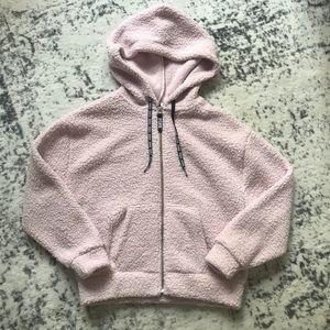 PINK Victoria's Secret Sherpa Full Zip Hoodie